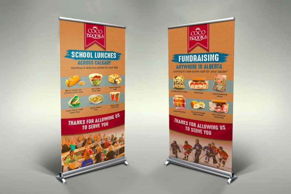 JYZ Design logo branding graphic web print calgary cocobrooks signage