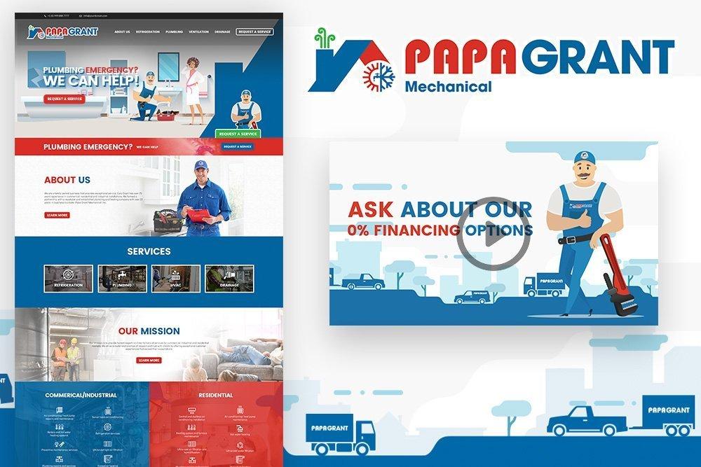 Papa Grant Mechanical – Advertising Portfolio – JYZ Design Calgary