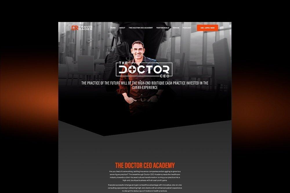 Dr. Travis Rader Website Design