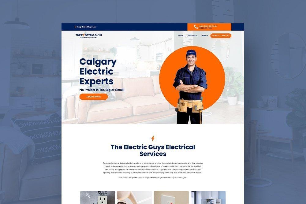 The Electric Guys Logo, Branding & Website Design