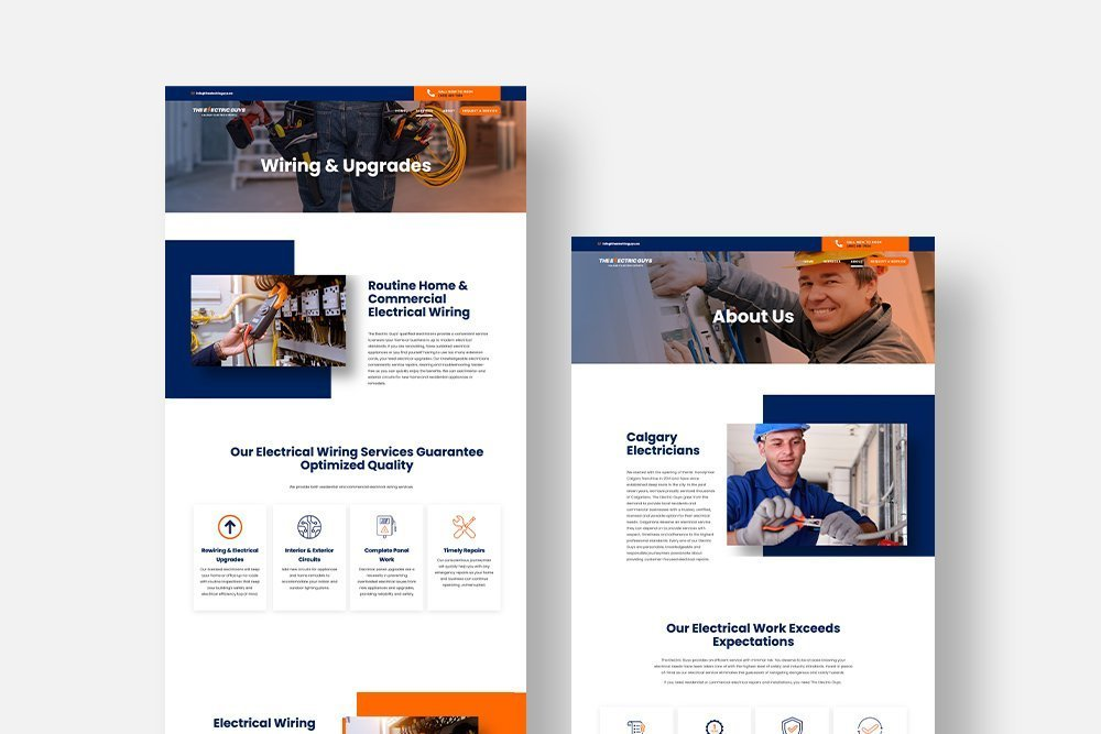 The Electric Guys Website Design