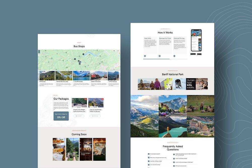 WowBanff website design