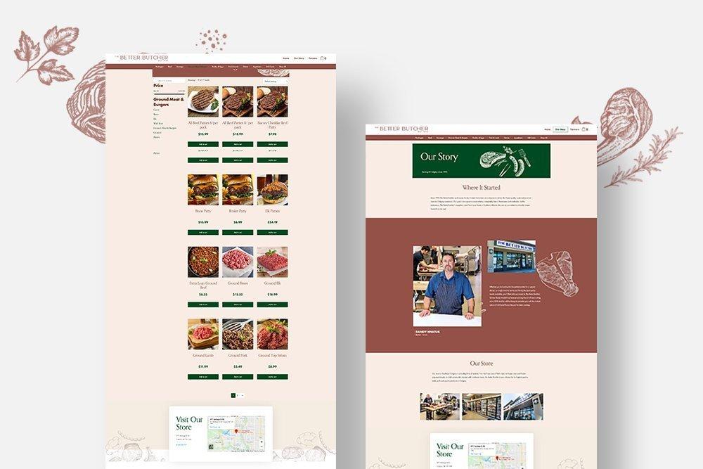 The Better Butcher website design